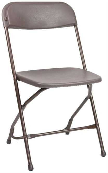 Discount Folding Brown Plastic Folding Chair Florida Poly Brown