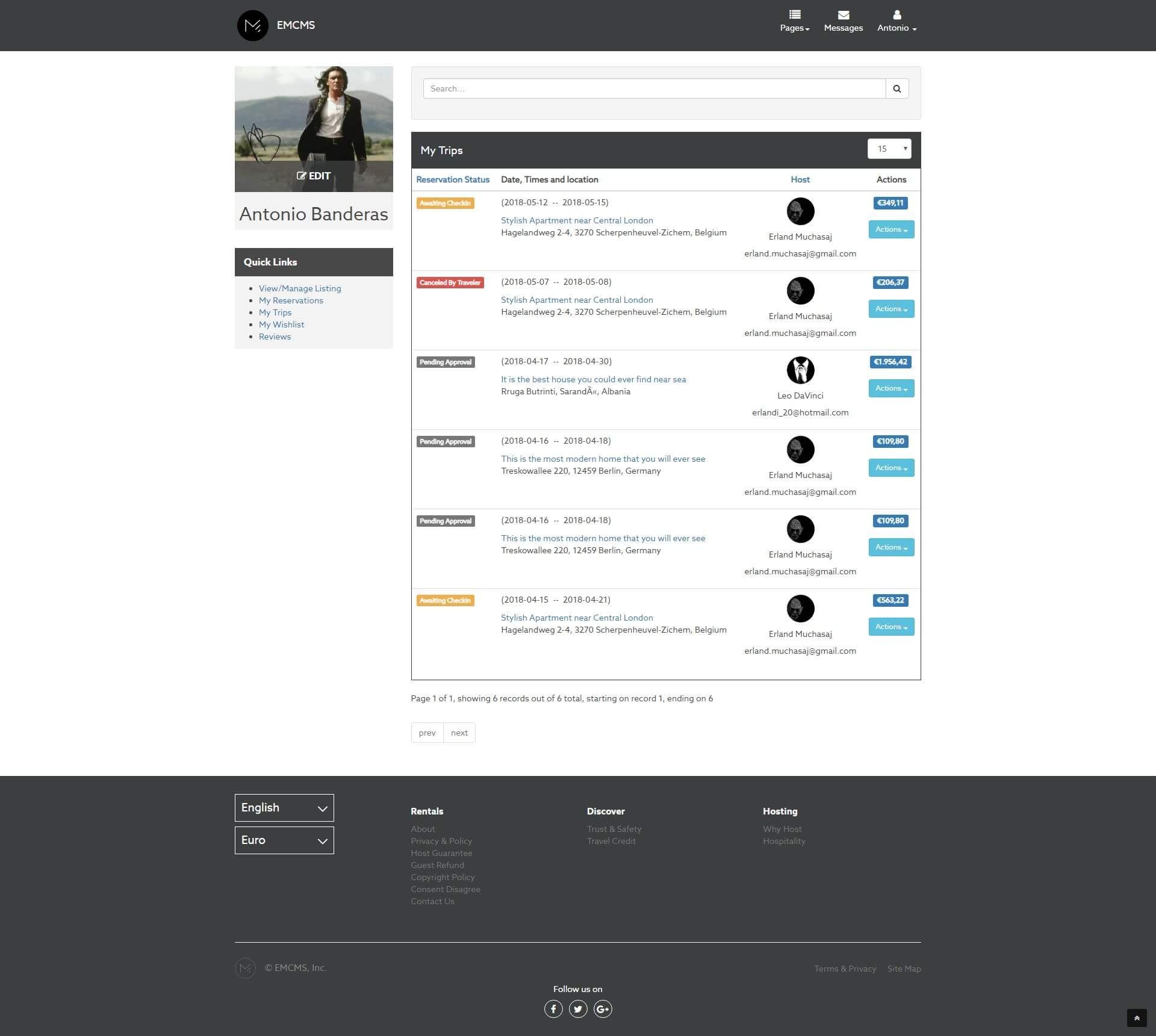 EMCMS Rental Management System by ErlandMuchasaj Ad EMCMS