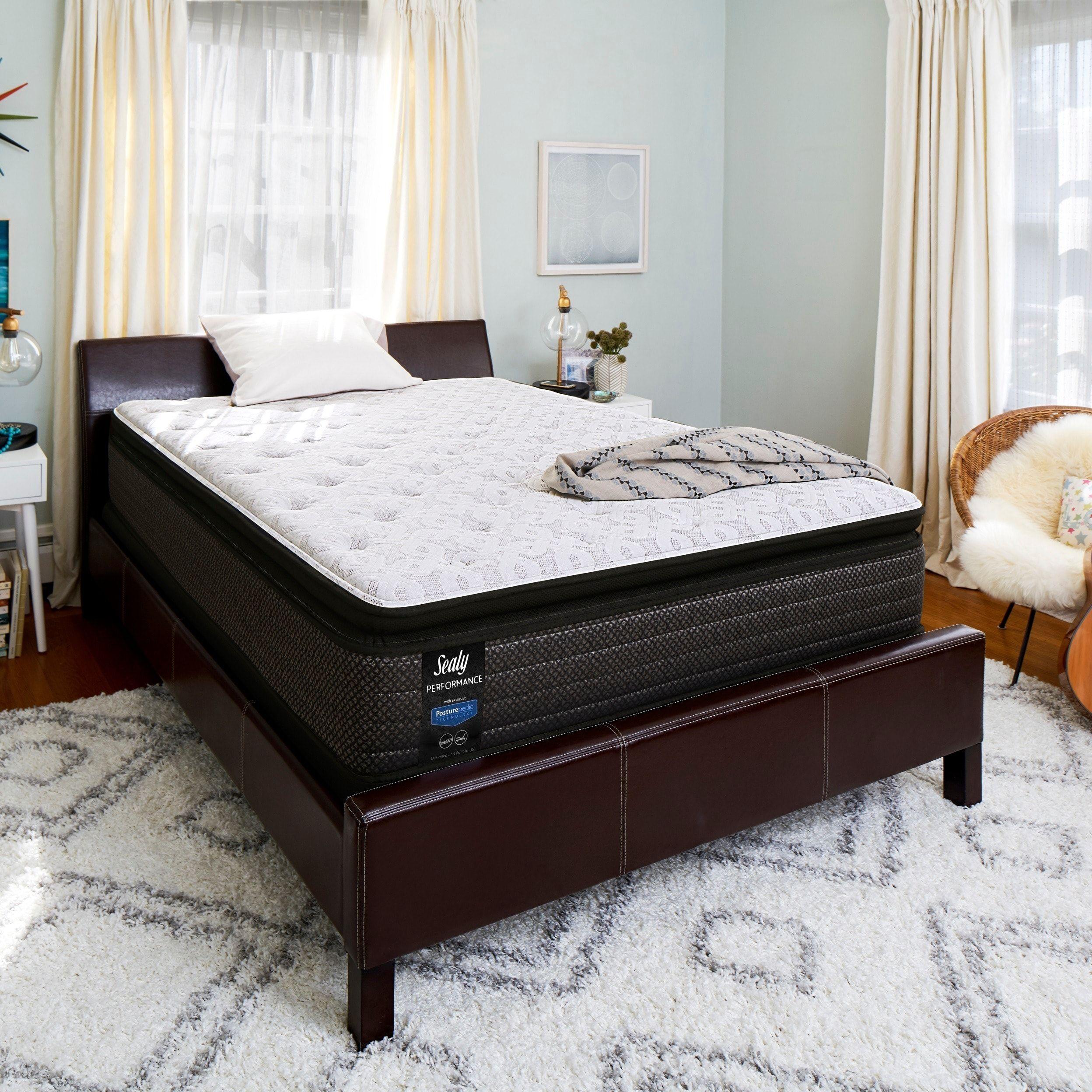 9 Beautiful Queen Plush Euro Pillow Top Mattress In Room