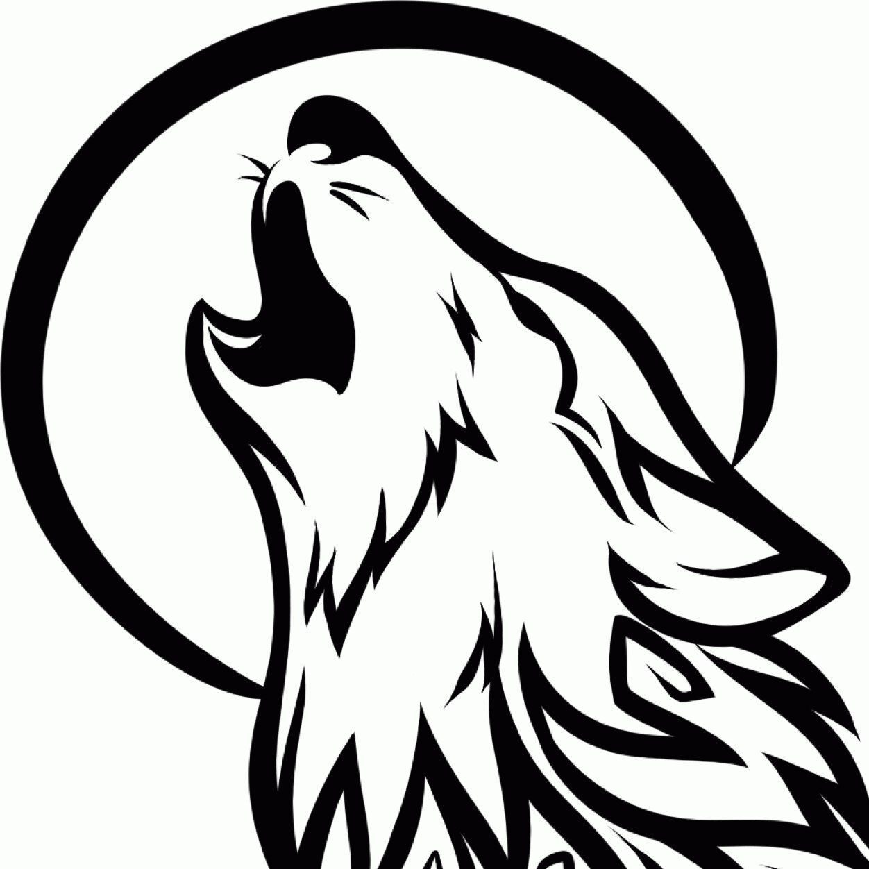 Simple Howling Wolf Drawing 24 simple wolf tattoo art