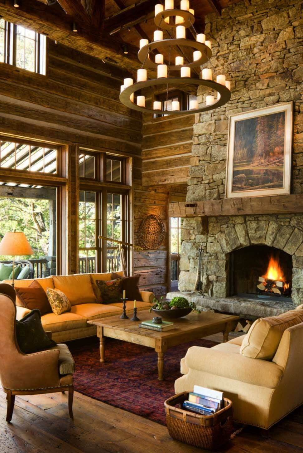 Rustic Mountain Home Living Room Rustic House Rustic Living Room Home
