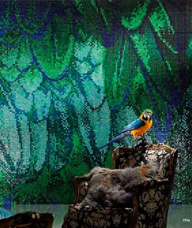 Sicis Mosaic Tile Interiors Guacamayo Green Ipix