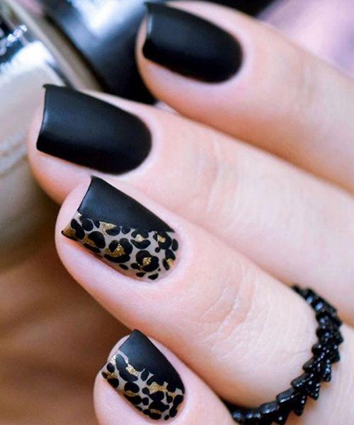 amazing leopard black nail art ideas that make you swoon fingern gel nagelschere und neutrale. Black Bedroom Furniture Sets. Home Design Ideas