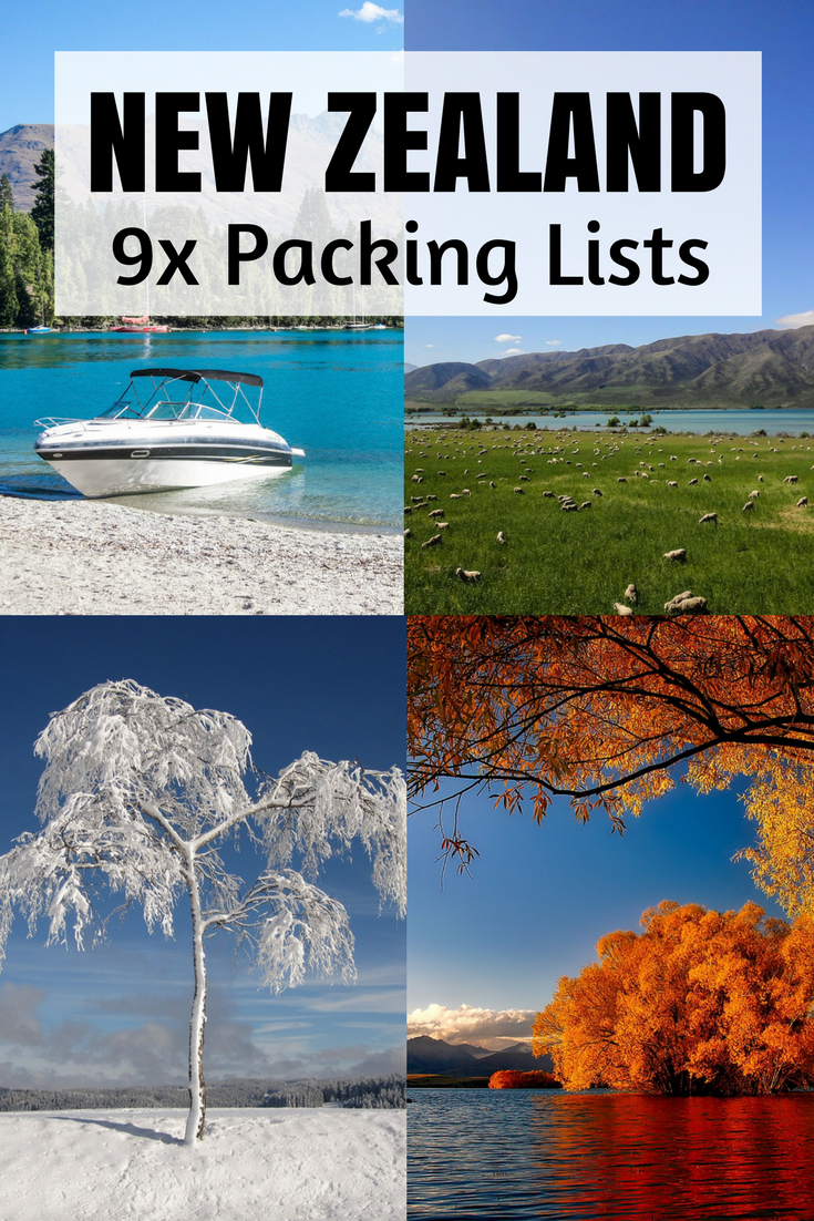 What To Pack For Travelling New Zealand New Zealand Packing For