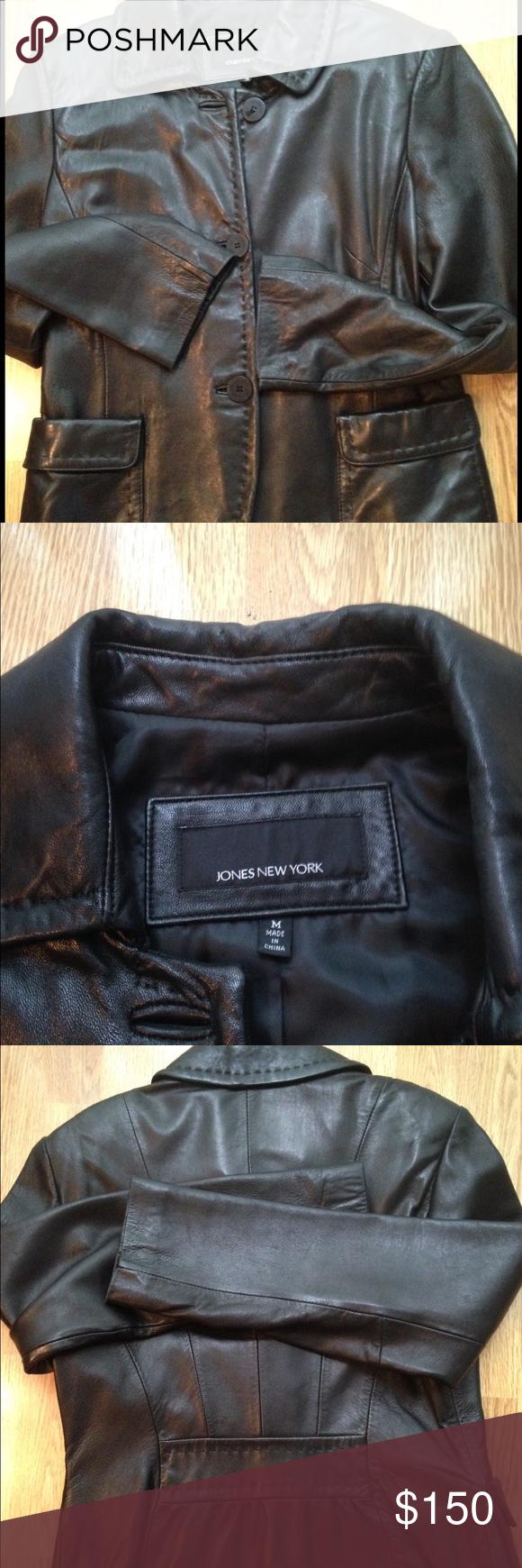 Jones New York Leather Jacket Leather Jacket Jackets Jones New York [ 1740 x 580 Pixel ]