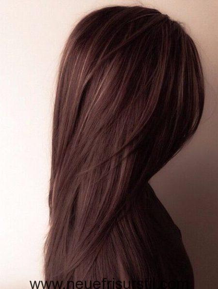 Schokolade Braun Haarfarbe Mit Highlights Haare Haar Ideen