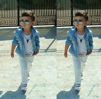 0ba1b3ec168 jacket guys toddler kids fashion kids gucci belt swag denim jacket kids  fashion gucci sunglasses loafers kids clothes