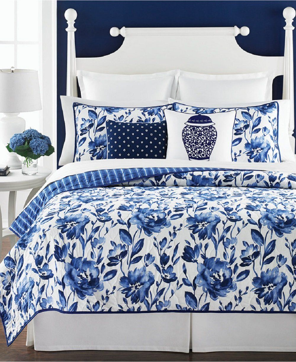 picturesque better homes and gardens quilts. Amazon com  Martha Stewart 3 Piece 100 Cotton Quilt and Sham Set
