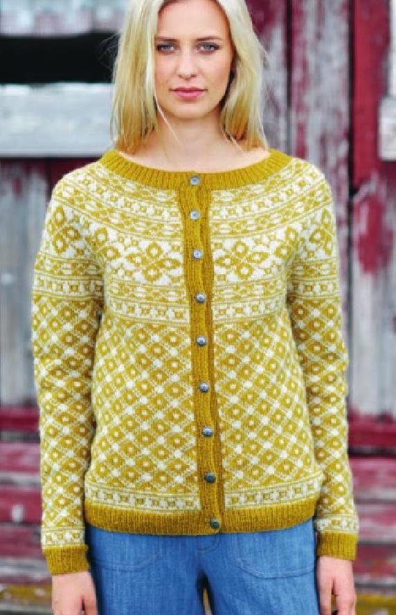 Tema 46 Norske Ikoner Voksen Fair Isles Norwegian Knitting And