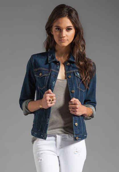 7 For All Mankind Blue Denim Jacket Denim Jacket Women Blue Denim Jacket Outfit Dark Denim Jacket