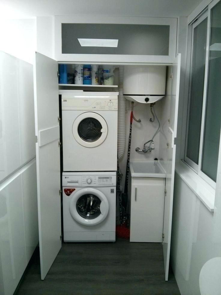 Mueble lavadora secadora mueble lavadora secadora interior for Mueble lavadora