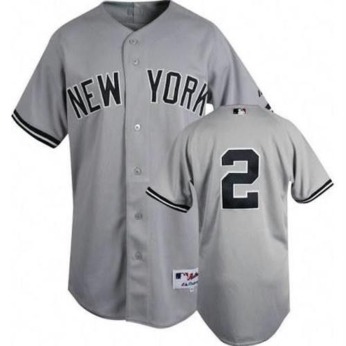 Derek Jeter Authentic New York Yankees Road Jersey  06f1d802bfb