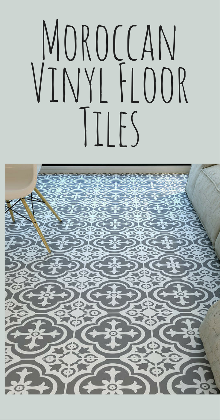 I Want These Vinyl Tiles In My Bathroom Moroccan Style Floor