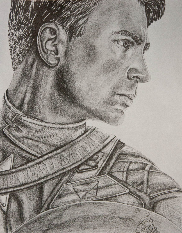 Captain america pencil portrait sketch portrait photography and