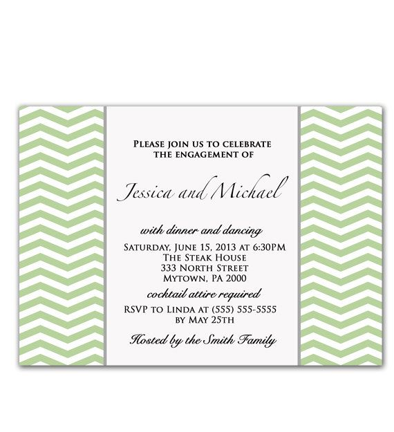 Green chevron wedding engagement dinner party zig zag invitation green chevron wedding engagement dinner party zig zag invitation digital party invite jpeg file high res 300dpi 29 stopboris Choice Image