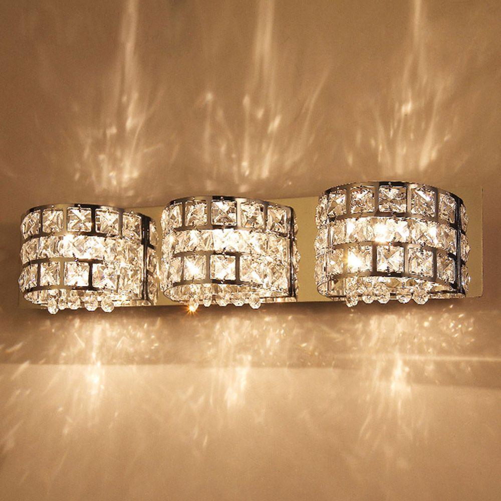 9 Inch Bathroom Light Fixtures  Crystal bathroom lighting