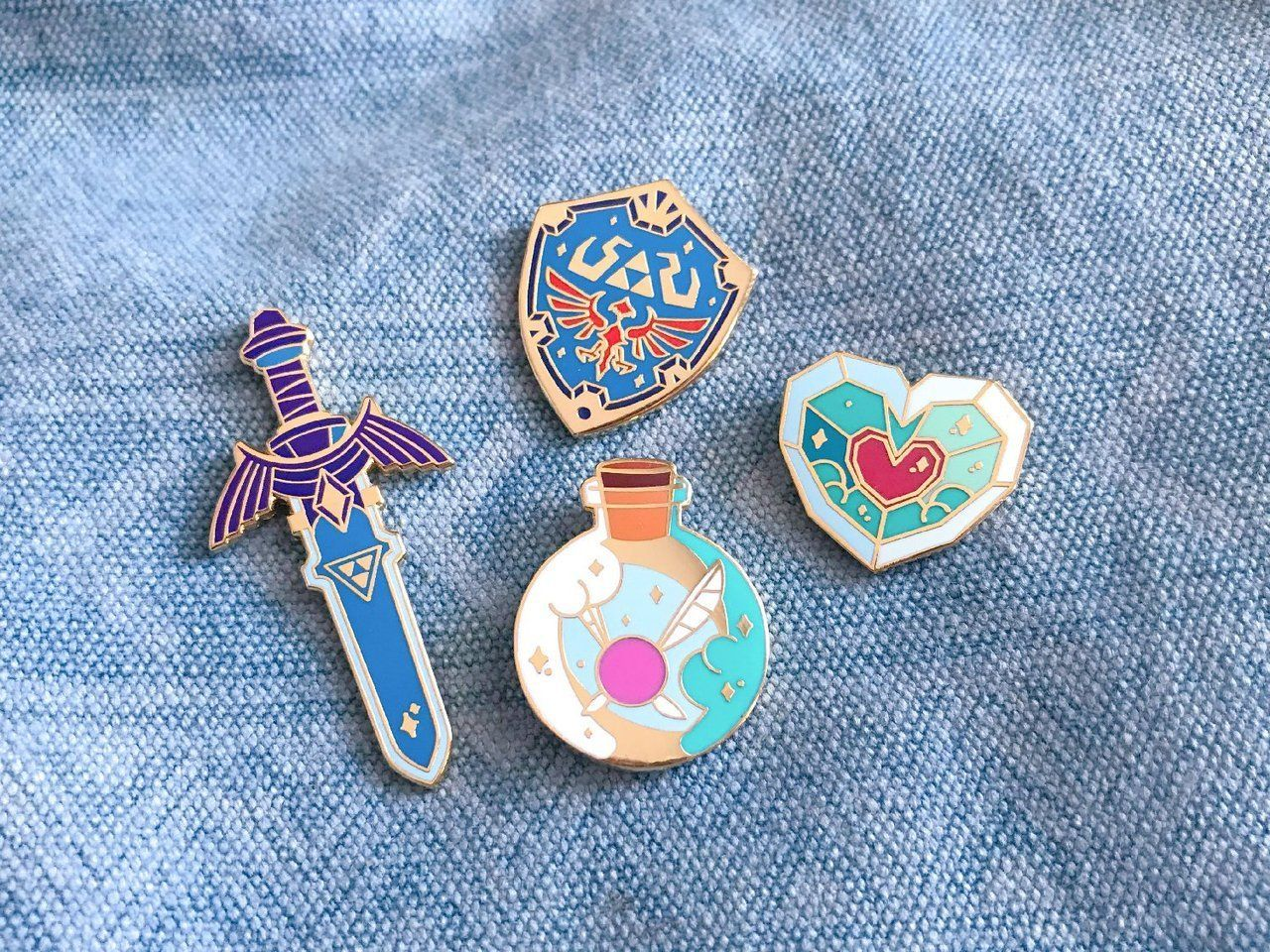Legend of Zelda Pins made by Lily Xia -