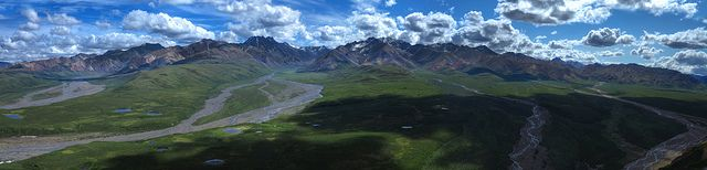 Polychrome Pass in Denali National Park and Preserve.