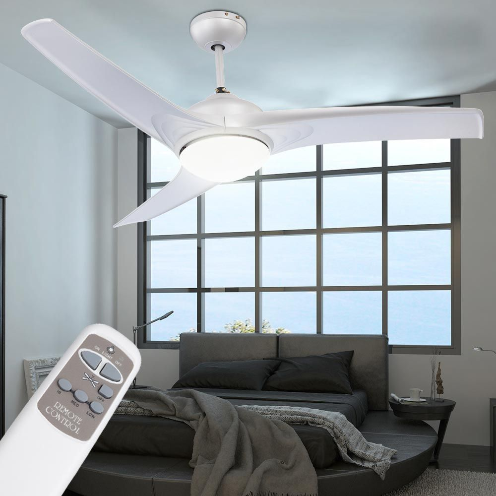 Decken Ventilator Beleuchtung Lampe Leuchte Lüfter Wohnzimmer