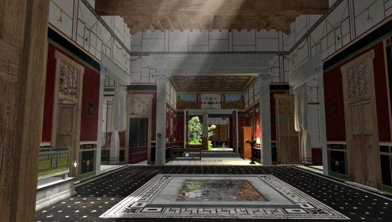 3d Animation Recreates A Pompeii House Before The Vesuvius