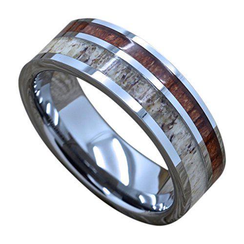 Men's Tungsten Ring With Deer Antler And Koa Wood Inlay, ... https://www.amazon.com/dp/B01JV6U11G/ref=cm_sw_r_pi_dp_x_Enu2ybTH0Q1GH