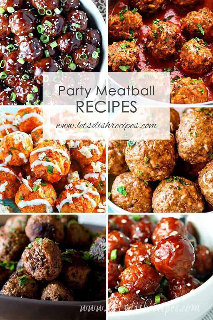 Photo of Best Party Meatball Recipes | Let's Dish Recipes