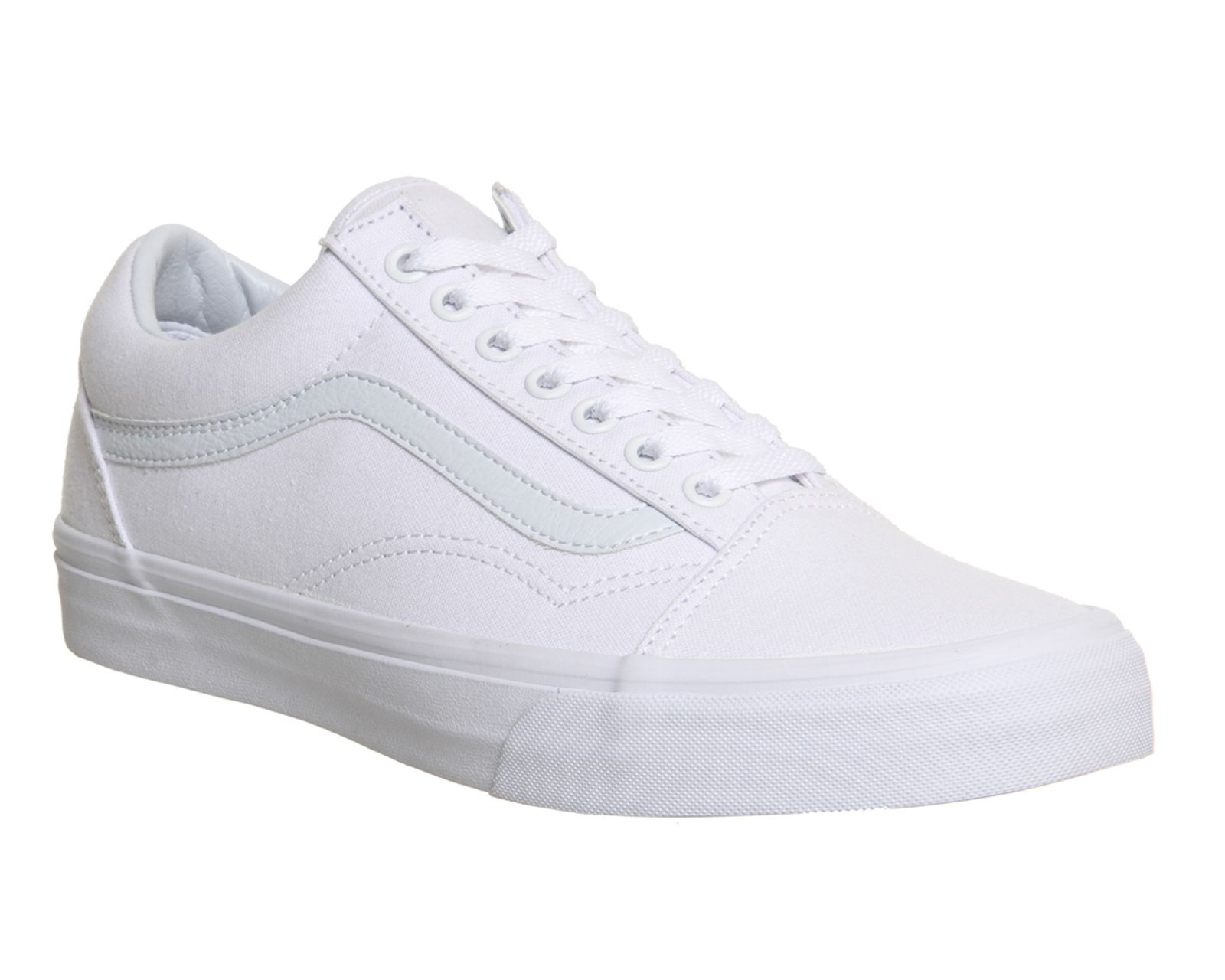 White Mono Vans Old Skool Canvas Trainers From Office Co Uk