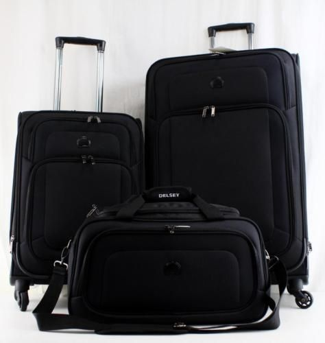 DELSEY EMBARQUE 3 PIECE SPINNER LUGGAGE SET BLACK https://t.co/zfHIDPxhOg https://t.co/Ge4ZWc481L