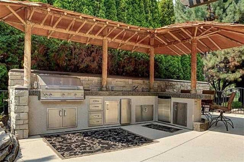 outdoor kitchens are hot for 2014 via huffington post outdoor kitchen design outdoor kitchen on outdoor kitchen yard id=16408