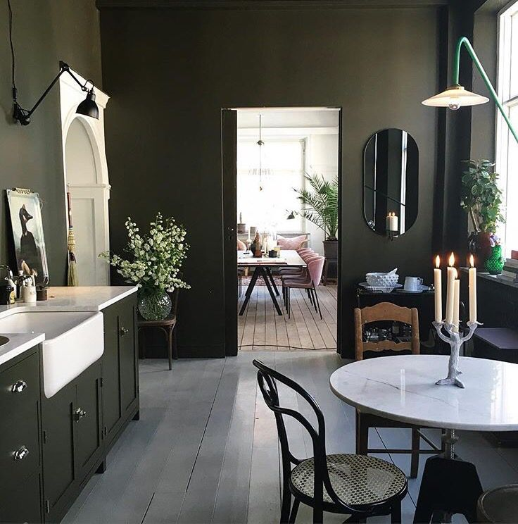 Army Olive Green Kitchen