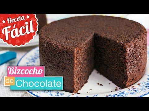 Bizcocho De Chocolate Muy Rico Jugoso Y Esponjoso Receta Fácil Pastel Chocolate Casero Bizcocho De Chocolate Recetas De Torta Esponjosa