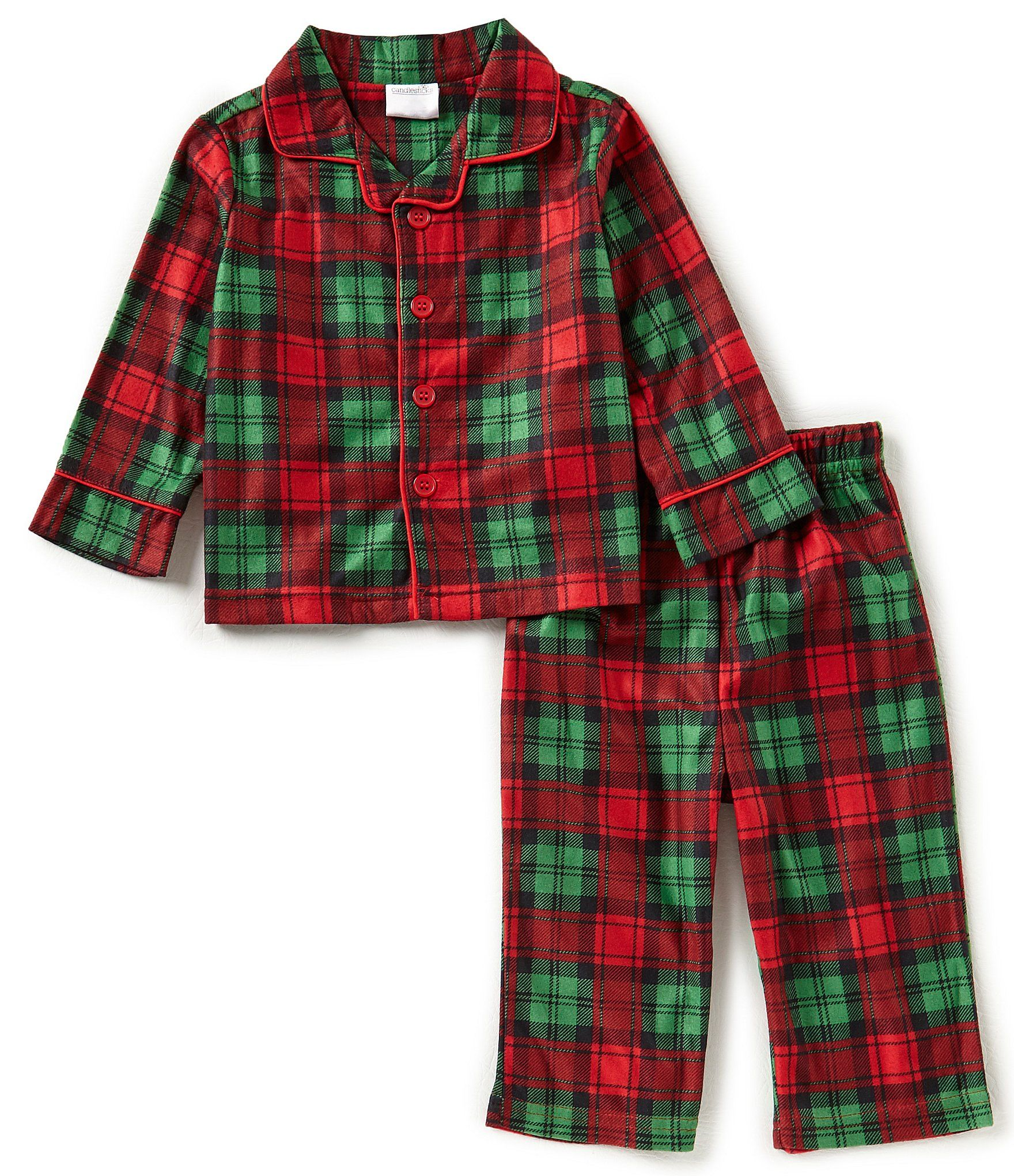 Baby Starters Baby Boys 1224 Months Christmas Plaid ButtonFront