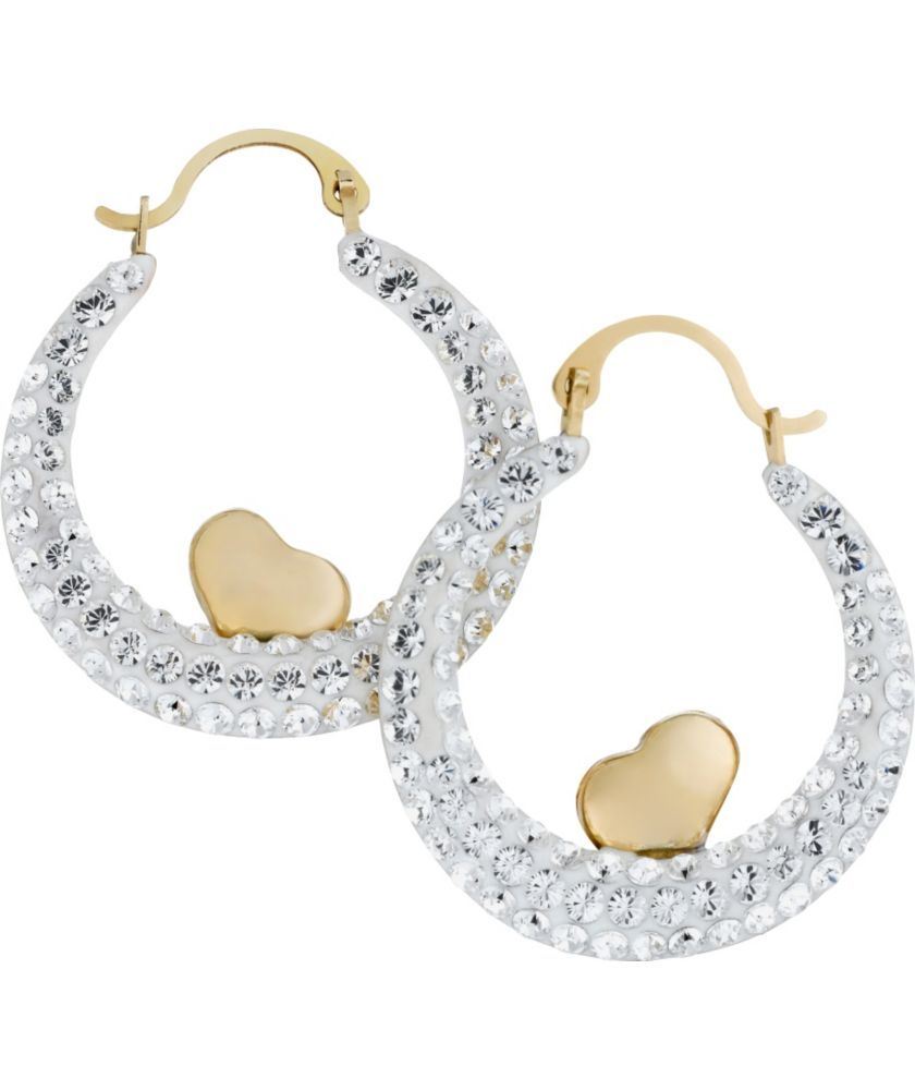 Buy 9ct Gold Reversible Heart Oval Creole Earrings at ...