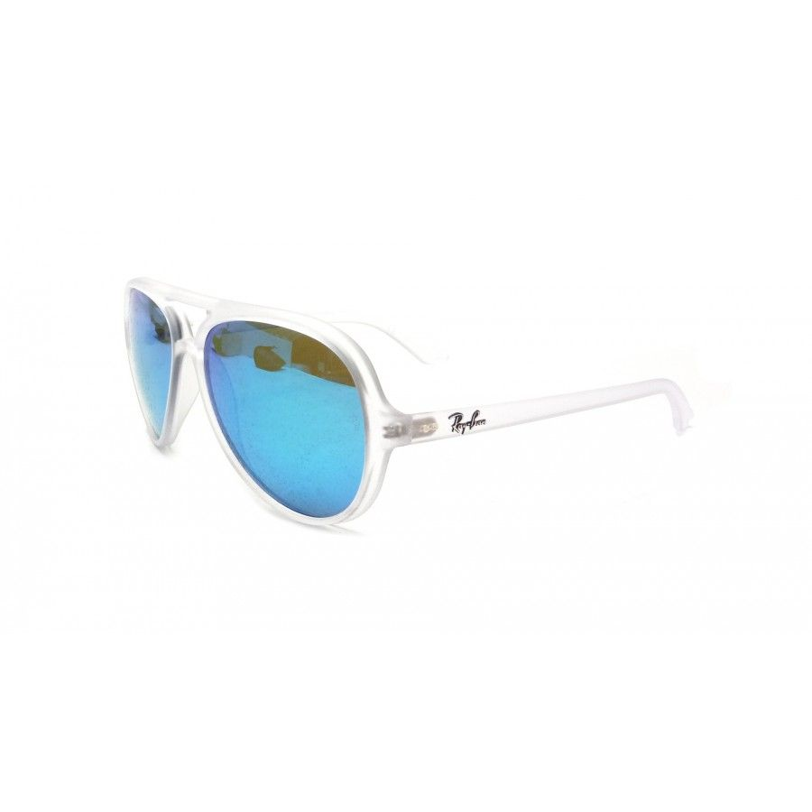 f2185555f82 ... france sunglasses ray ban rb 4125 cats 5000 646 17 transparent mirrored  lenses blue Édition special