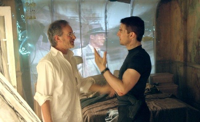 "Tom Cruise and Steven Spielberg in ""Minority Report"" (2002)"