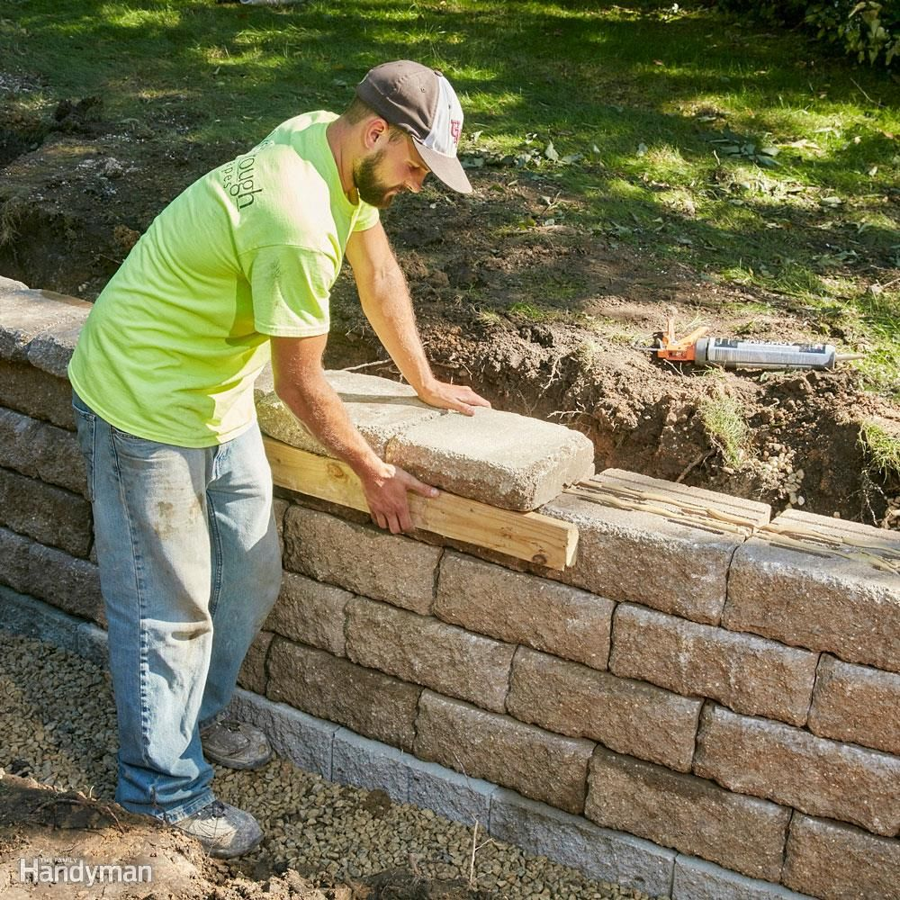 build a long lasting block retaining wall building a on retaining wall blocks id=21462