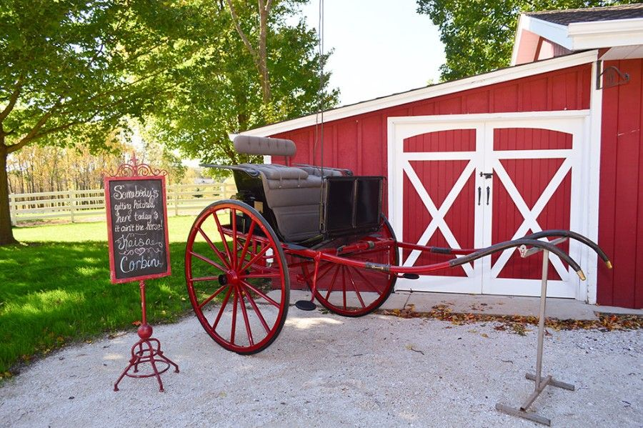 Equestrian Refinement - White fences and antique carriages ...