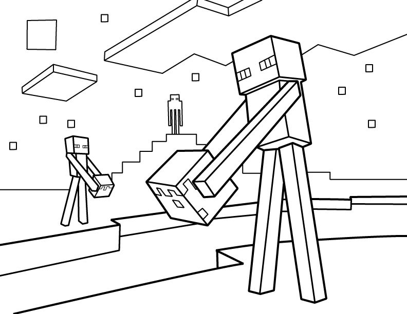 Minecraft Colouring Pages Online : Minecraft coloring pages free printable pdf