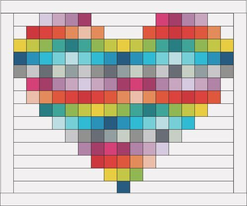 This rainbow heart would make a good quilt patten