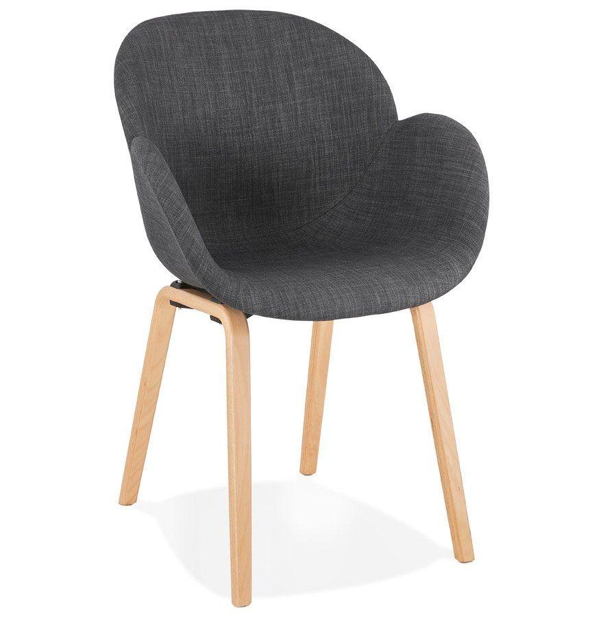 Chaise Design Avec Accoudoirs Samy En Tissu Gris Style Scandinave Chaise Scandinave Avec Accoudoirs Composee D Une Chaise Design Tissu Gris Fauteuil Design