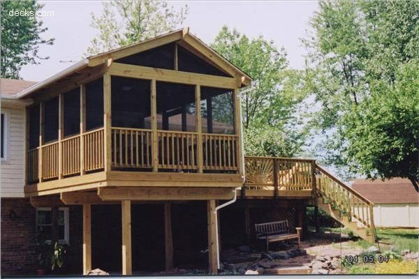 Mid Elevation Deck Picture Gallery Deck Pictures Three Season Porch House Styles