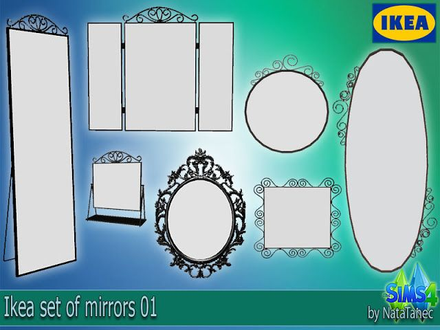 IKEA Mirrors by Natatanec | Sims 4 cc möbel, Sims und Sims 4