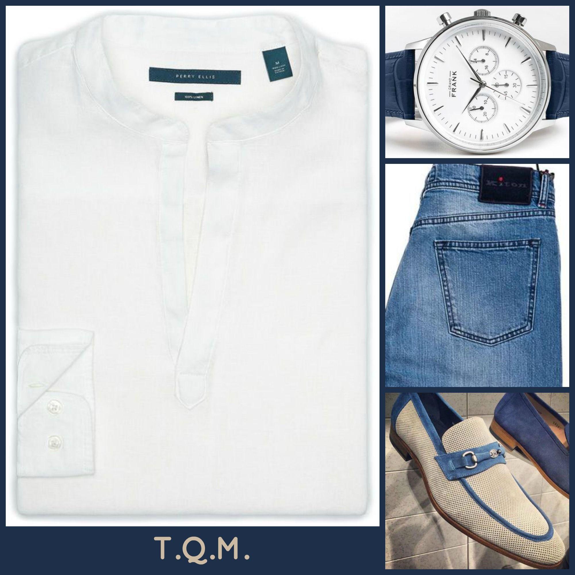 WEEKEND(JEAN STYLE): Perry Ellis(Linen Shirt)-Grand Frank(Watch)-Kiton(Watch)-Mezlan(Shoes)