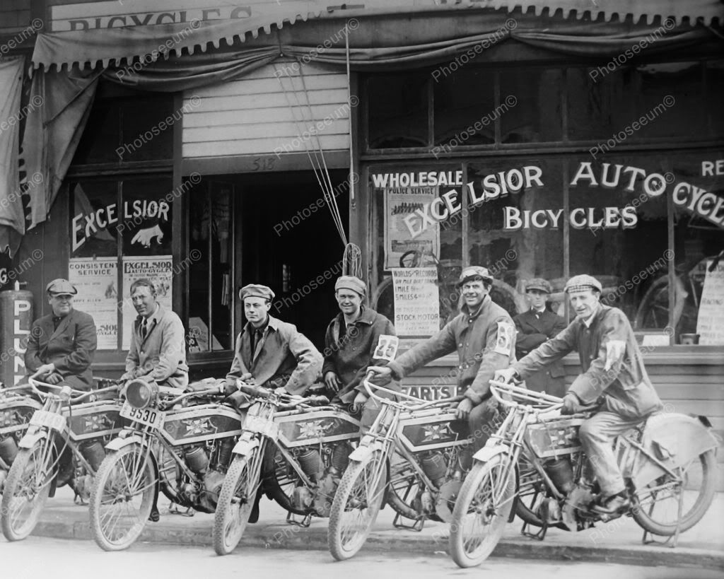 Excelsior Motorcycle Dealership 1915 Vintage 8x10 Reprint Of Old ...