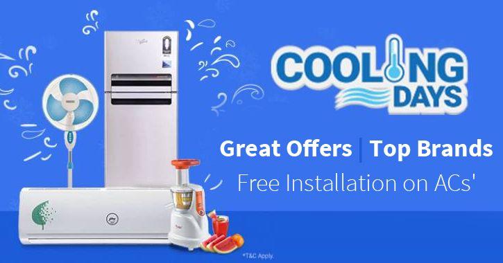 Filpkart Cooling Days: Up to 60% Off On Summer Appliances