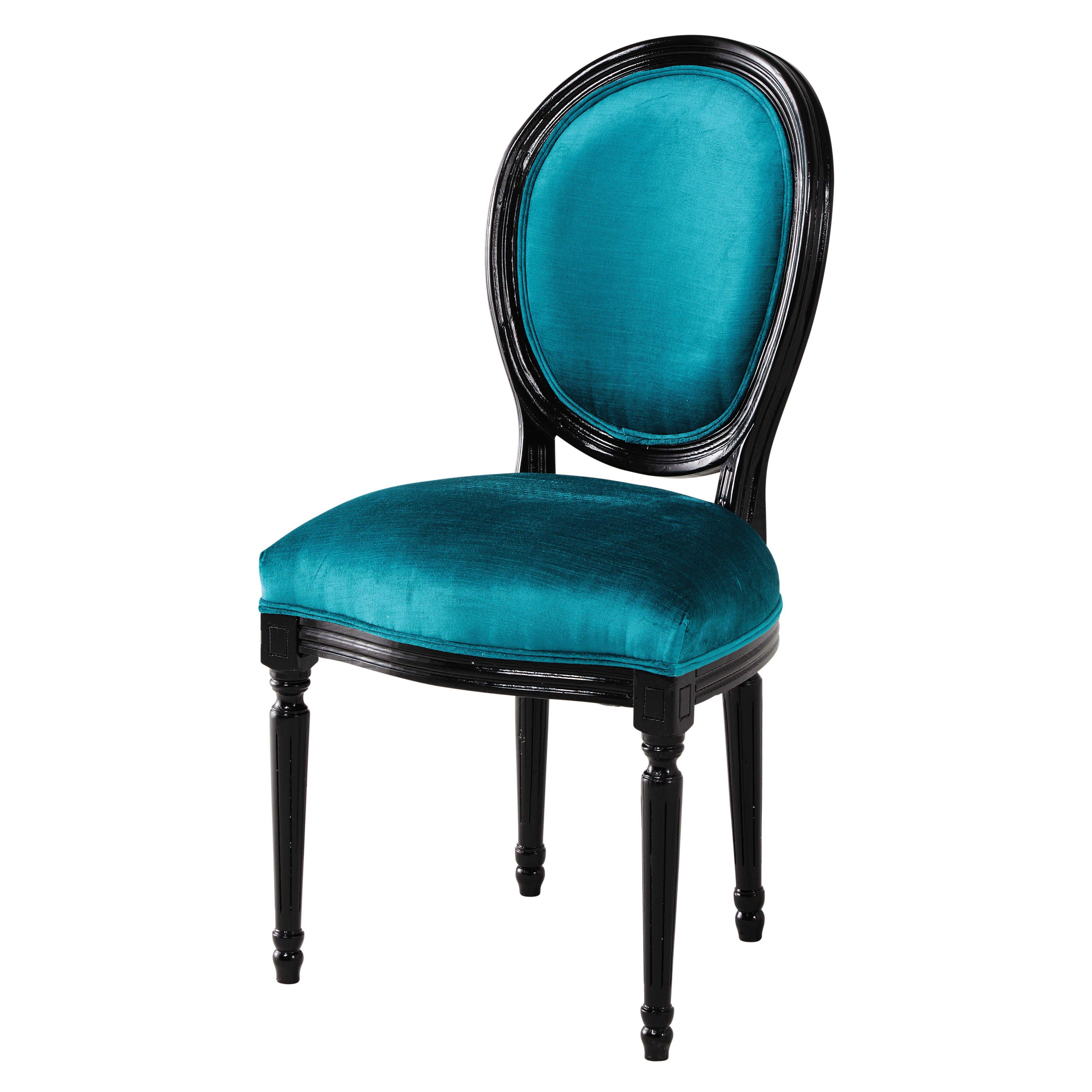 Beautiful Chaise Salle A Manger Bleu Canard Gallery Design