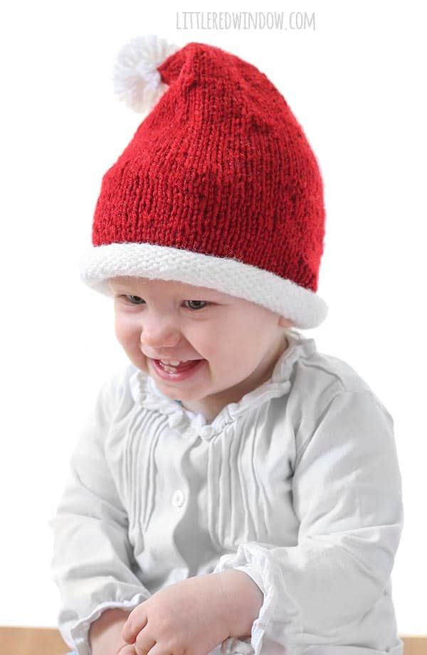 Little Santa Hat Knitting Pattern   Hat knitting patterns ...