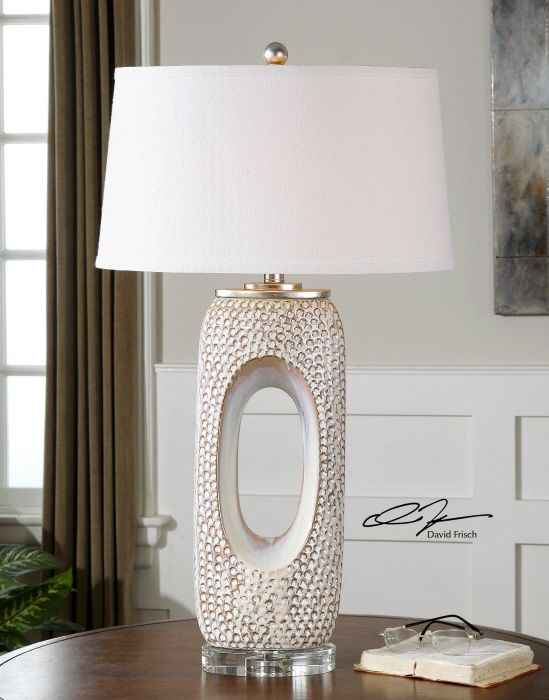 Vdara Allure Lamp White Textured Lamp Transitional Lighting Designnashville Com Shipping To You Table Lamp Ceramic Table Lamps Decor