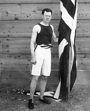 James Connolly, winner of the first gold medal of the modern Olympic games in 1896 (Triple Jump).