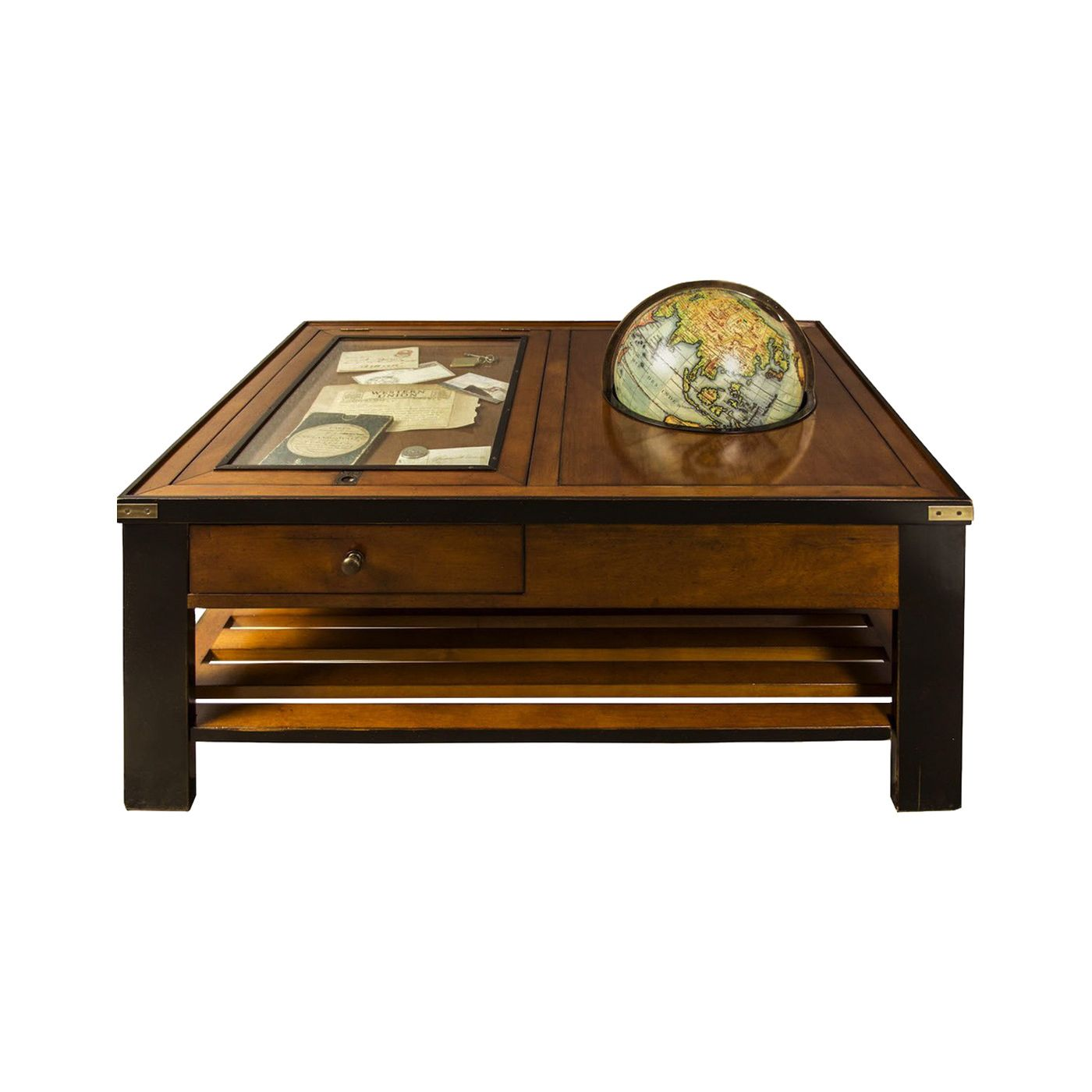 Add A Little Worldliness To Your Rustic Living Room Or Sophisticated Study With This Charming Coffee Table Wooden Accent Table Coffee Table Wood Accent Table